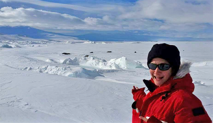 Lily Morris encountered Weddell seals in McMurdo Sound, Antarctica.