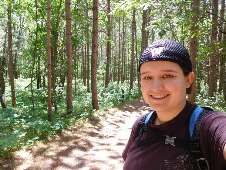 Exploring Bemidji State Park while serving with the Corps