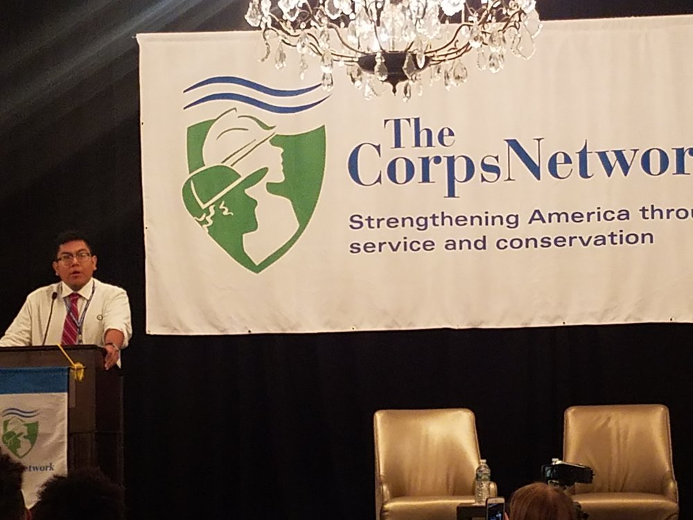 CELEBRATING YOUNG PEOPLE: Corps member Lance Tubinaghtewa of Arizona Conservation Corps received the Corps Member of the Year Award for his service in the Ancestral Lands program.