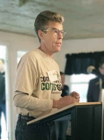 Executive Director, Mark Murphy, saying a few words at the recent Mississippi Riverboat Cleanup