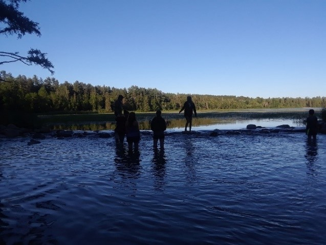 Making the most of the long days at the headwaters of the Mississippi in Itasca State Park.