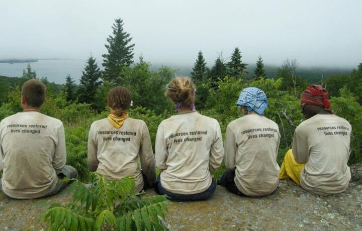 Margaret's 2013 Wilderness Crew near the Greenstone Ridge Trail on Isle Royale National Park.