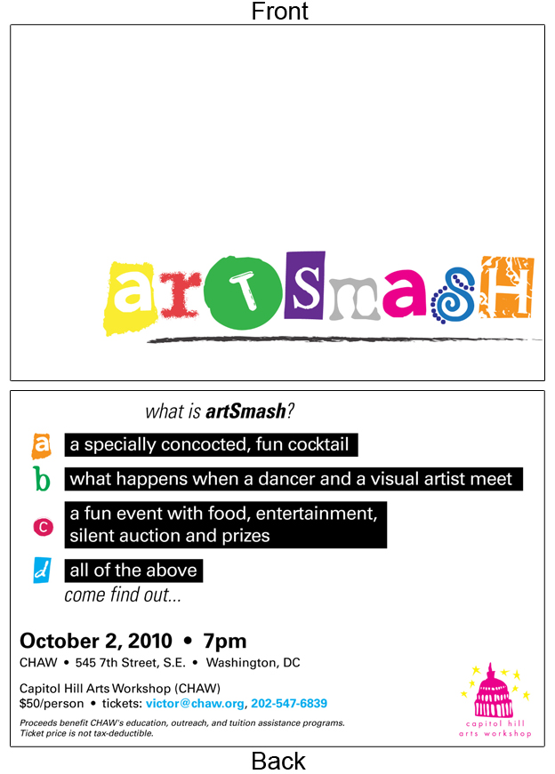 Artsmash Postcard
