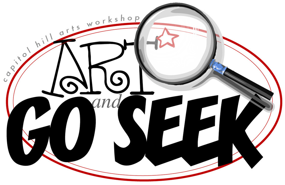 Capitol Hill Arts Workshop Art and Go Seek Logo