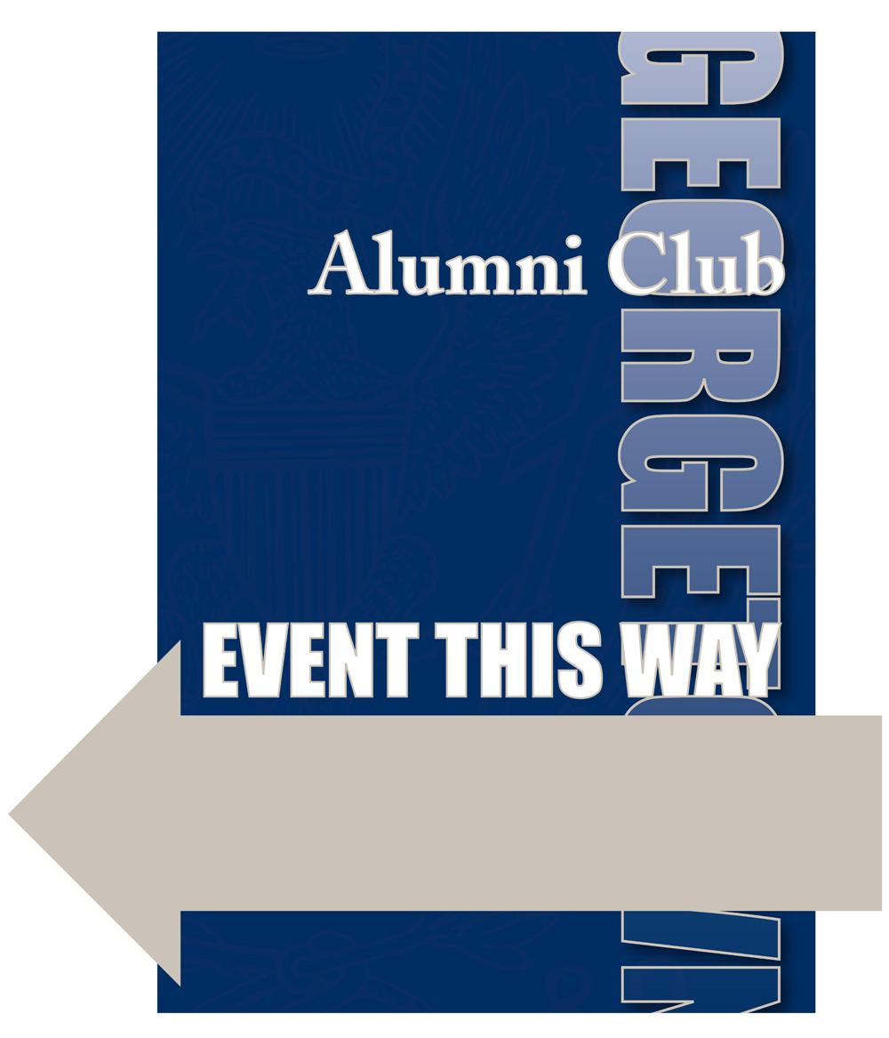 Georgetown Alumni Club Signage