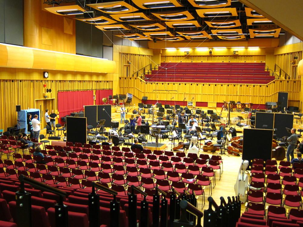 Session break, Hoddinot Hall, Cardiff, Wales, Oct '11