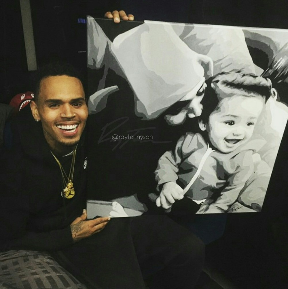 Chris Brown & Daughter Royalty - 24
