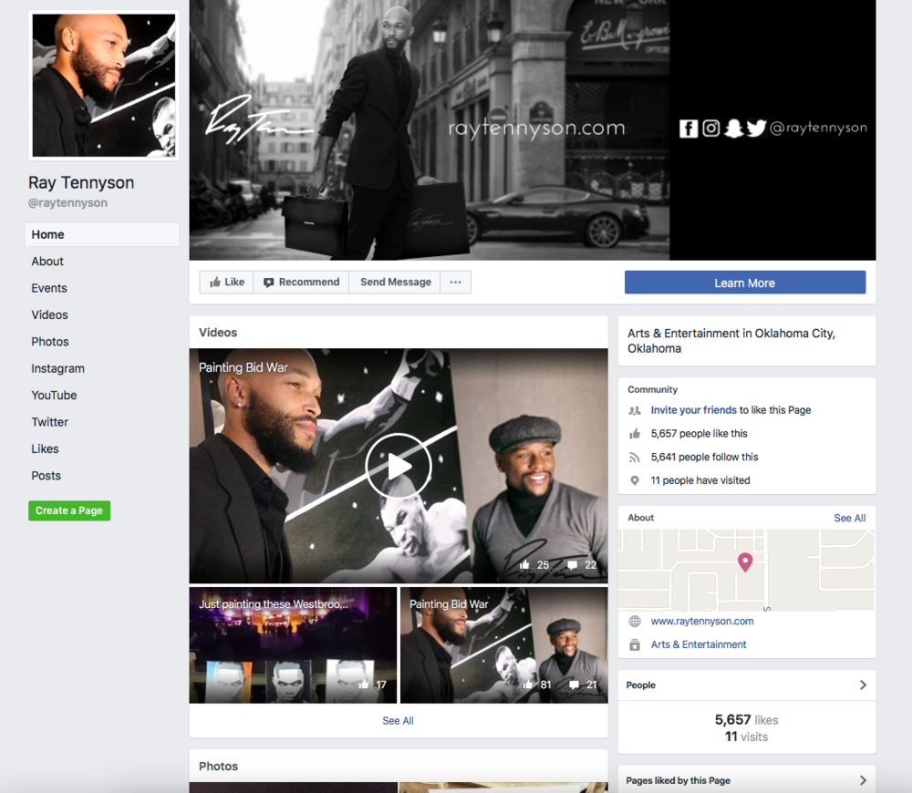 Follow Ray Tennyson's Like Page! - Stay up to date wth paintings and events by following Ray's Facebook Like Page.