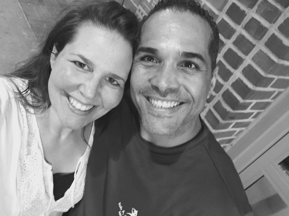 My friend and his wife. He is such a champion!!! - PR,July, 2016