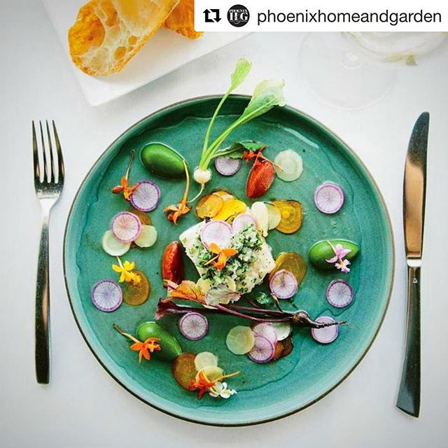 "#Repost @phoenixhomeandgarden ・・・ In our November issue, Chef Christopher Gross shares his plans for the future--and a delicious white fish recipe that includes ""cactus teardrops."" 🌵 Click the link in our bio for the whole story!"