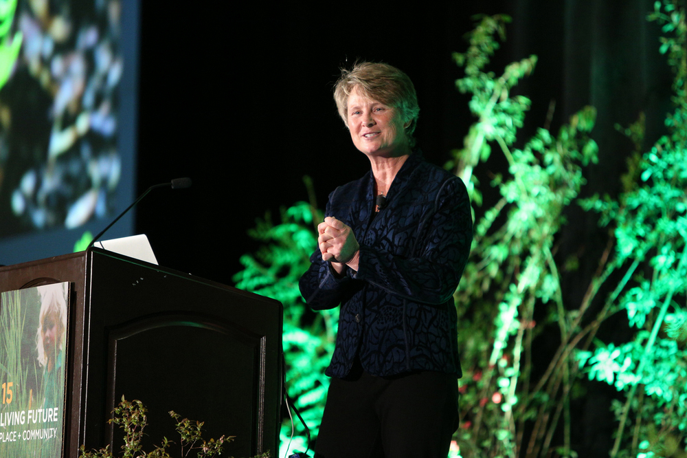 Janine Benyus presenting at the Living Futures unConverence 2015, Seattle, WA