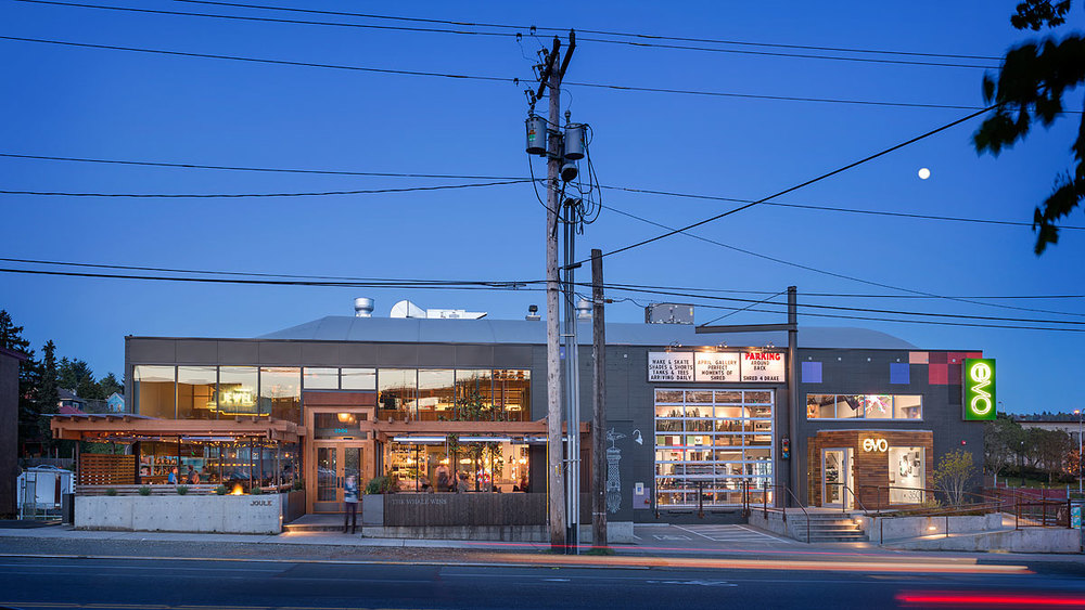 Fremont Collective (adaptive reuse project): Heliotrope Architects + Graham Baba (shell & core), photo: Aaron Leitz
