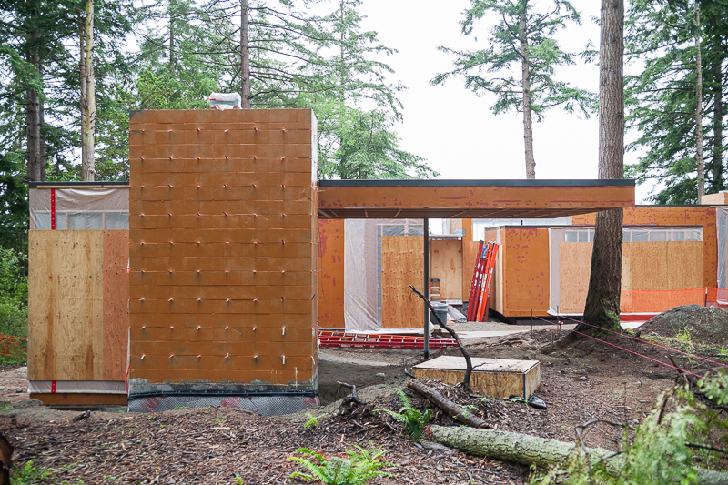 Smuggler's Cove residence on Whidbey Island, designed by MW|Works, under construction.