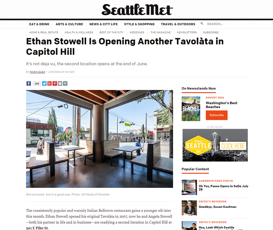 Tavolàta in Seattle Met. Click image to read full story.