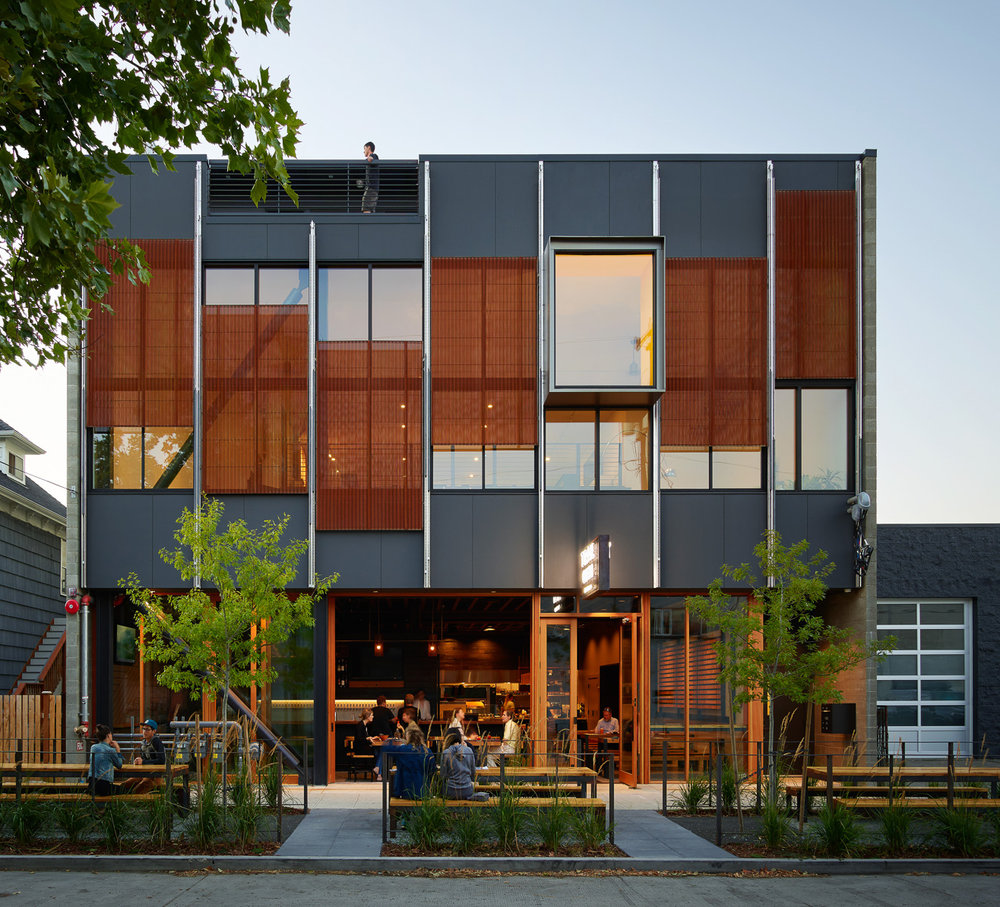 Klotski Building // Architecture:  Graham Baba Architects   New construction of a three-story mixed-use building in Ballard, Seattle.