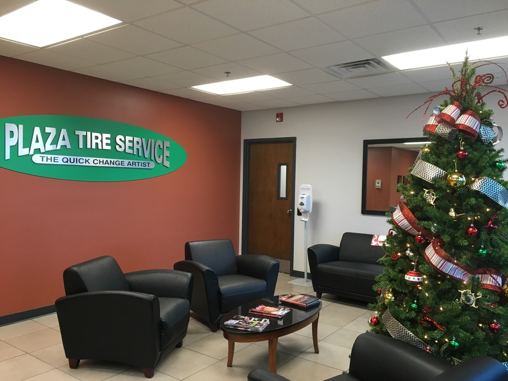 Tree at Plaza Tire's Headquarters.