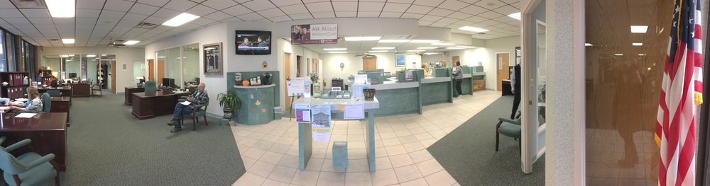 Before view of the main area at the DeSoto FSCB branch.