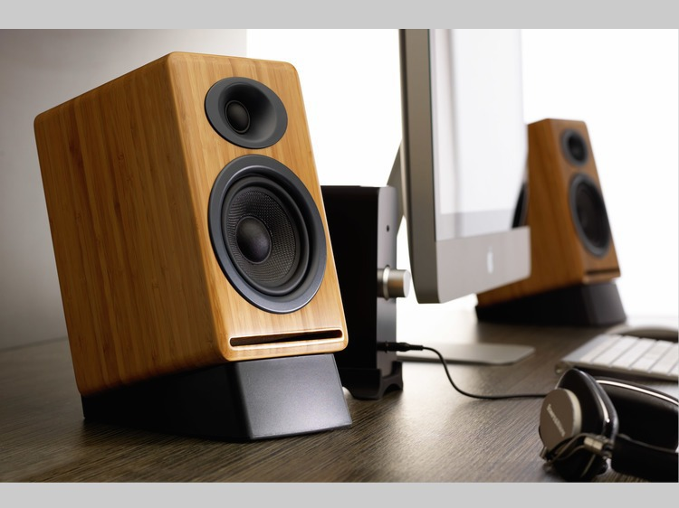 Audioengine P4N Passive Speakers ($249)  with Audioengine N22 Amplifier ($199.)  Just add DAC and computer for a complete system.