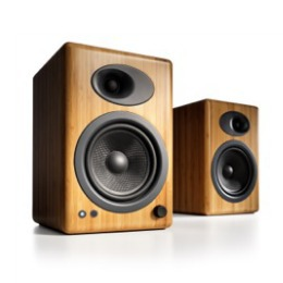Audioengine A5+N Powered Bamboo Speakers (from $399) -- clean design and fabulous sound .  The value king of the present monitor speaker market.