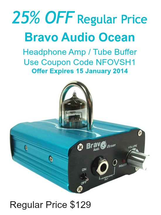 25% Off Bravo Audio Ocean Headphone Amp until 15 Jan 2014