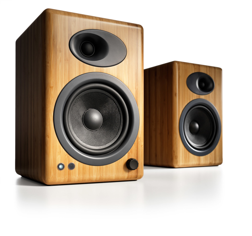Audioengine A5+ Powered Speakers in Bamboo, also come in Black and White