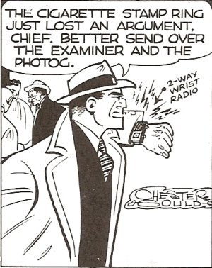Dick Tracy had a personal communicator in 1946.