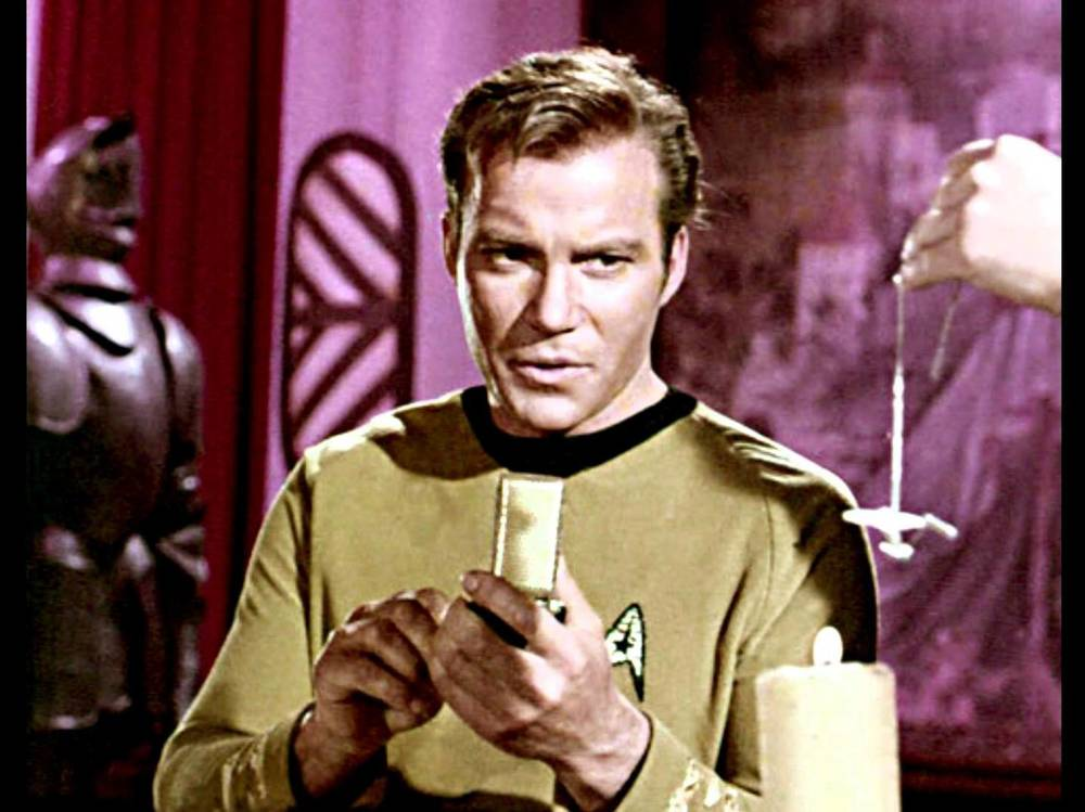 Captain James T. Kirk with Communicator.