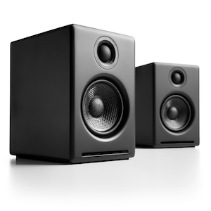 The little giant Audioengine A2+B Powered Speakers, Perfect for zone audio. $249 on iHi-Fi.com.