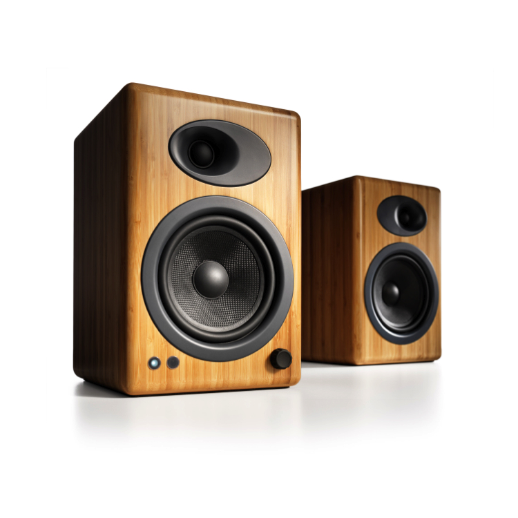 Audioengine A5+N Bamboo Powered Speakers, $469 on iHi-Fi.com.  A smart choice for Hi-Fi music zones.