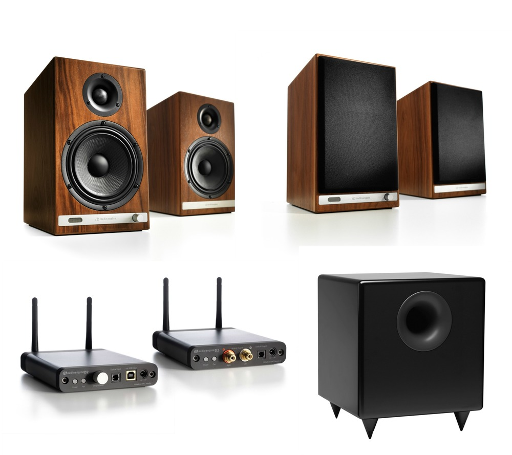 The iHi-Fi Music System One features the newest speakers in the lineup and many say the very best yet from Audioengine. Bluetooth aptX with additional fidelity enhancements, Wi-Fi wireless for the very best sound, and S8 subwoofer to fill in the low bass music.