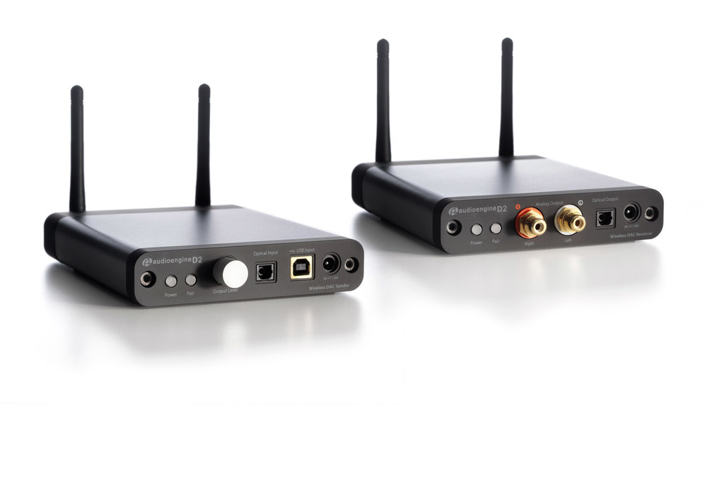 Audioengine's D2 DAC / Wireless Optical Link plays a strong supporting role.