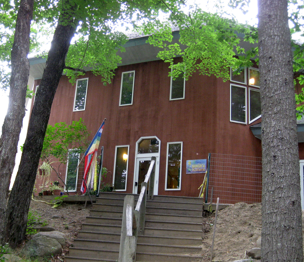 A Child's Nature, side entrance of the Pine Hill Waldorf School, Preschool classroom and Director's office