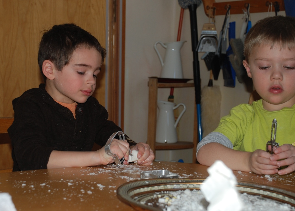 Creativity: Artistic experiences like carving soap
