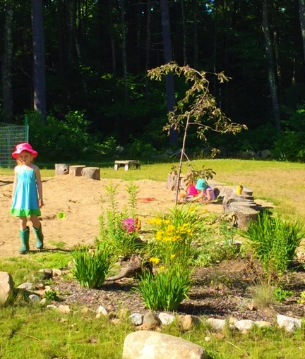Nature Play - tending our gardens is part of our outdoor curriculum.