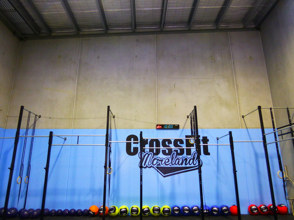 Above: A pic of CrossFit Moreland before we opened...nearly one year ago :)