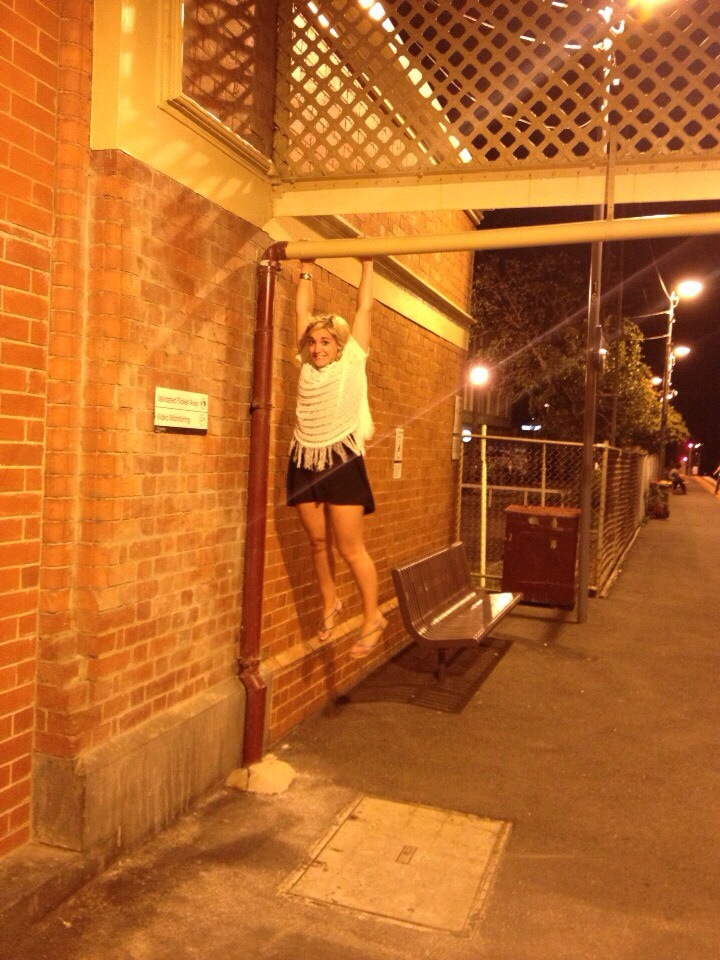 Above: member Zoe working on her pull ups at a train station- gotta love the dedication :)