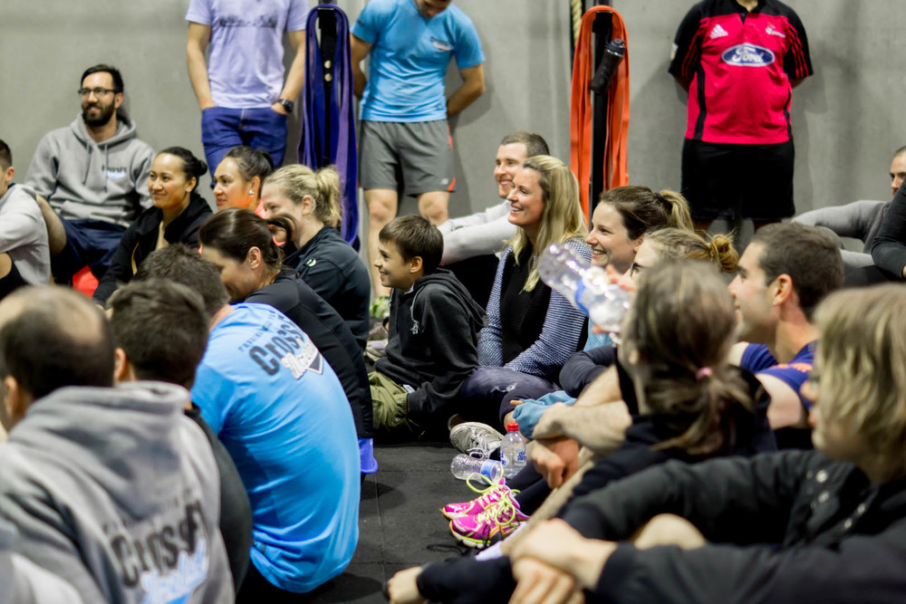Above: members enjoying an evening with multi-CrossFit Games competitor Chad Mackay at CrossFit Moreland.