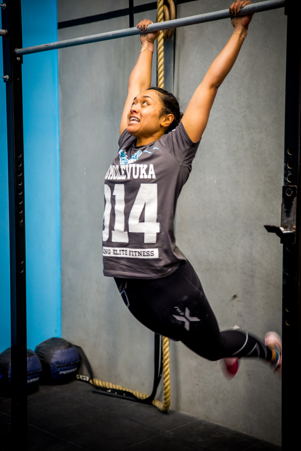 Above: Illy during THE 2014 MORELAND GAMES; OPEN WOD#1!