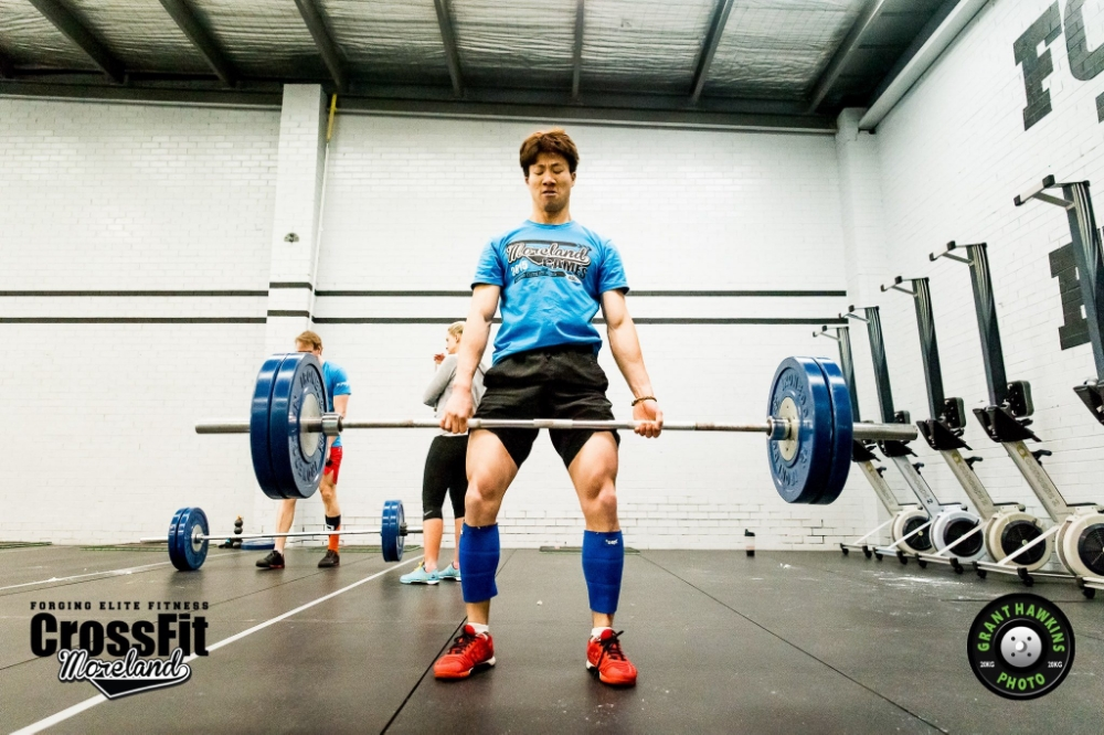Above: Coach Sukwon during the 2015 CrossFit Moreland Games (Deadlifts & Rope Climbs)