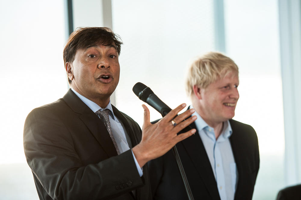 Client: Acelormittal - Mr. Mittal & Boris Johnson at Orbit Launch