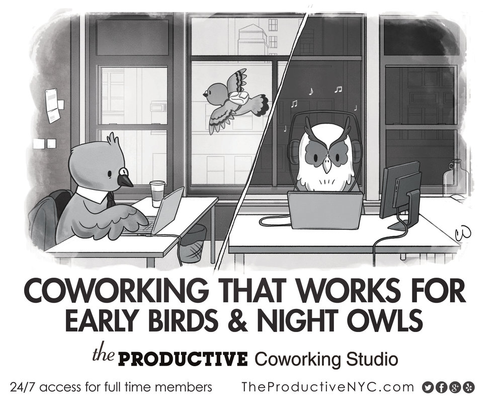 Art Direction/Copywriting for The Productive Coworking Studio