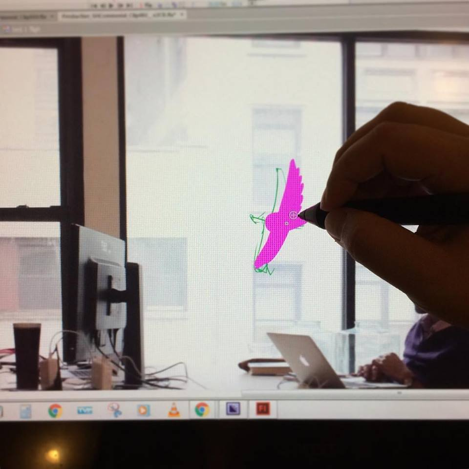 Animating a Bird Flying by the Window.