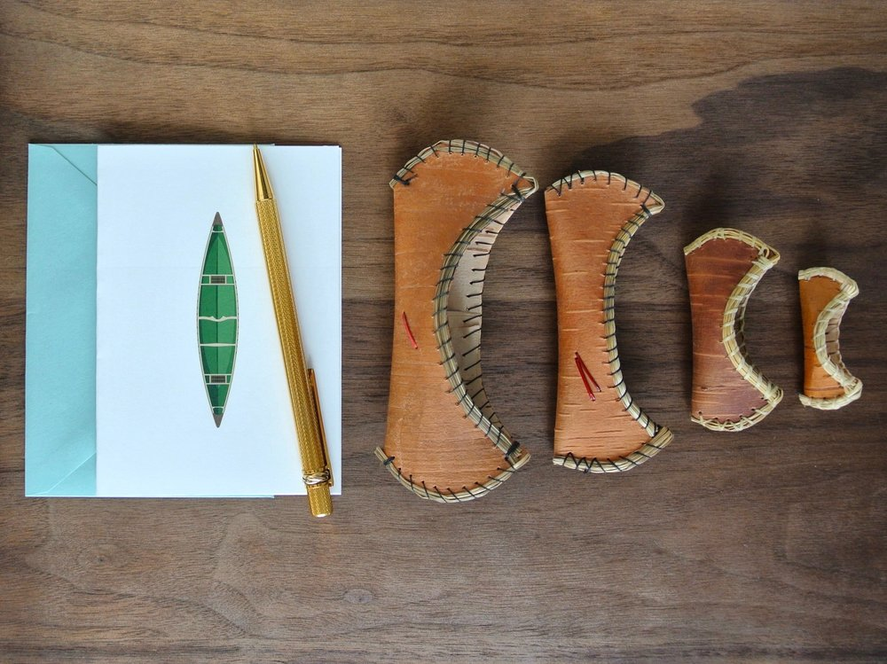 Writing at the cabin or cottage: Canoe notecards, greeting cards, and stationery.