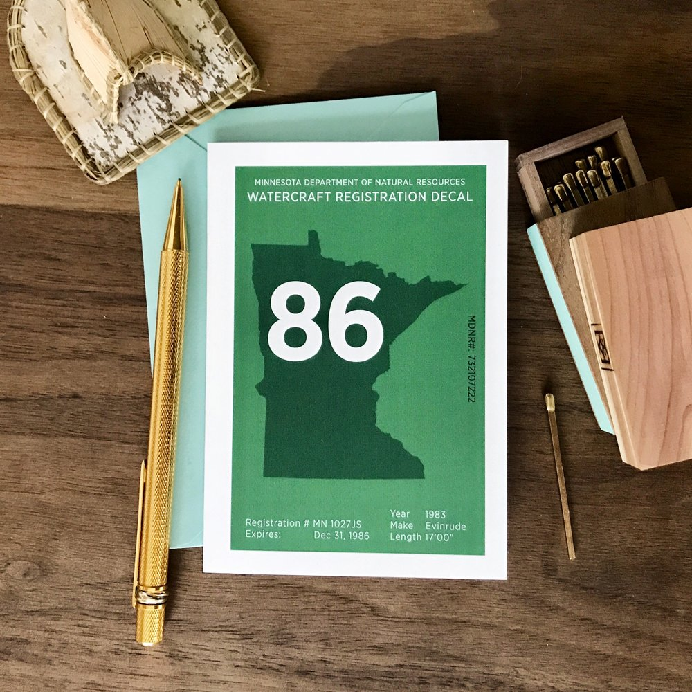 Minnesota greeting card: 10,000 ways to say hello from the lake cabin.