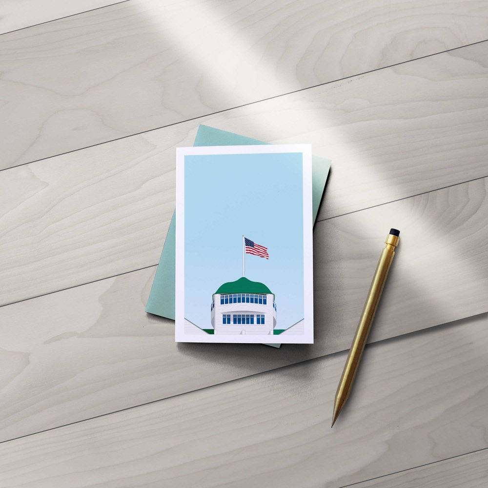 Grand Hotel Greeting Card . A folded, 4 Bar version of our popular art print.