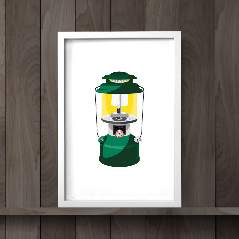 "Lantern Art Print  Available in 13 x 19"", 8.5 x 11"", and 5 x 7"" formats with optional frame."
