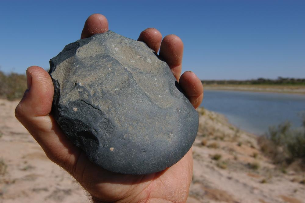 Stone axe.
