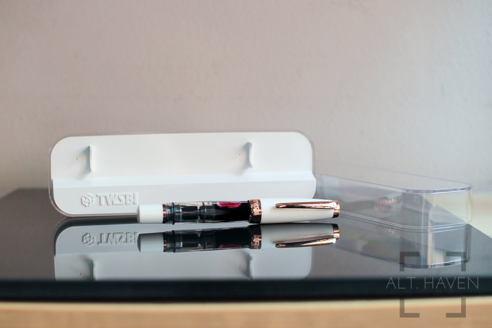 Review Twsbi Mini White Rose Gold Alt Haven