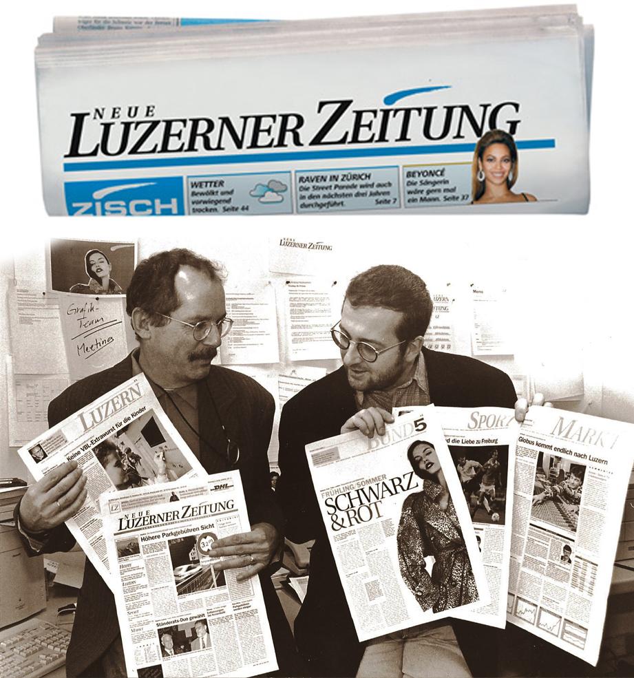 Otto Kohler (l.) und Jean-Pierre Ritler bei der Vorstellung desNLZ-Konzeptes.