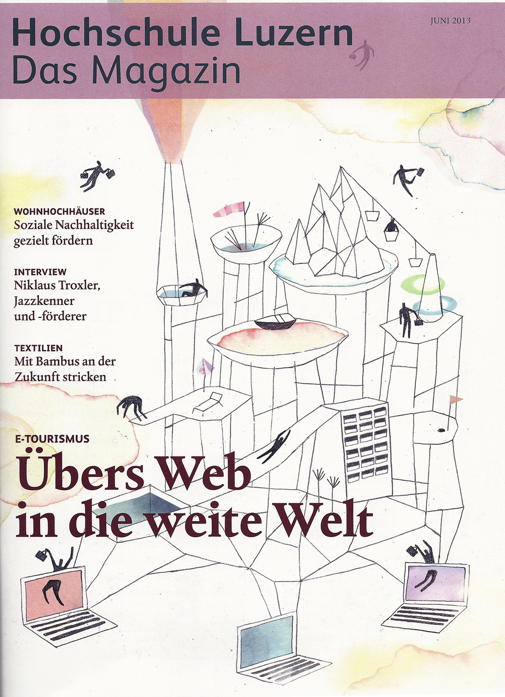 Titelbild Juni-Ausgabe Magazin der Hochschule Luzern.